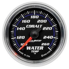 Autometer Cobalt 52mm 100-260 Deg F Electronic Water Temp Gauge