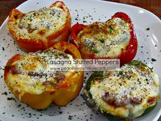 Peace, Love, and Low Carb: Lasagna Stuffed Peppers