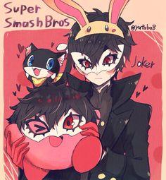 Persona 5 Memes, Persona 5 Anime, Persona 5 Joker, Nintendo, Super Smash Bros Game, Super Smash Ultimate, Kirby Character, Ren Amamiya, Akira Kurusu