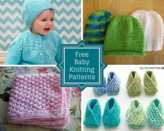 Knitting for babies is one of the most exciting kinds of knitting projects. From hats and booties to baby blankets and sweaters, little ones need a little bit of everything...and you can knit it all for them using these free baby knitting patterns.
