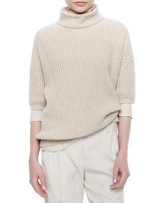 Brunello Cucinelli Cashmere & Brunello Cucinelli Pants | Neiman Marcus