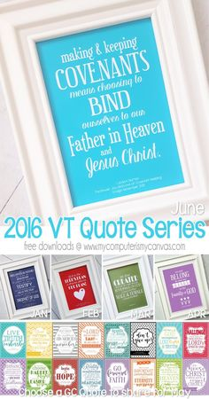 FREE PRINTABLE Visiting Teaching Quote Series... June Handout, Linda K. Burton Quote - also great for RS Bulletin Boards, Relief Society Printable #mycomputerismycanvas