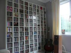 Furniture: Interesting CD Storage Solution Ideas, Mega CD Storage Solution Ideas