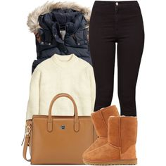 Feb 2020 - A fashion look from October 2015 by miizz-starburst featuring H&M, American Apparel, UGG Australia and Tory Burch Cute Swag Outfits, Preppy Outfits, Dope Outfits, Outfits For Teens, Chic Outfits, Fashion Outfits, Fashion Trends, School Outfits, Cold Weather Outfits