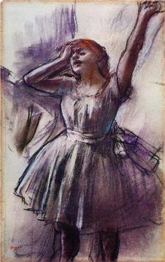 Edgar Degas, Dancer with Left Arm Raised - Kimbell Art Museum