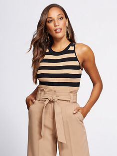 d5d27304fe0 Shop Gabrielle Union Collection - Stripe Sweater Tank Top. Find your perfect  size online at