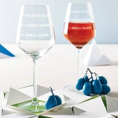 Personalised Drinks Measure Wine Glass from notonthehighstreet.com