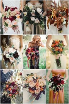 .Fall Bouquets for Autumn | Brides Bridal Musings Wedding Blog.
