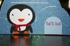 That's Cool Penguin Create a Critter Card using Joy's Life Lots of Pun stamps