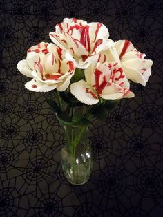 Blood Splattered Flower Bouquet