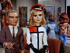 Thunderbirds duchess assignment - Jeff Tracy with Lady Penelope. Sylvia Anderson herself did the voice for Lady Penelope while Jeff was voiced by actor Peter Dyneley.