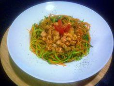 """P.S. Eu Cozinho: """"Esparguete"""" de Cenoura e Courgette com Frango e C..."""