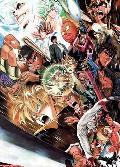 Murata Yusuke (artist of Onepunch Man) drew this awesome shonen jump poster