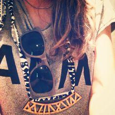 My rayban & my Aztec necklace