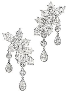 Harry Winston - The Incredibles Collection - Caftan Diamond Earrings