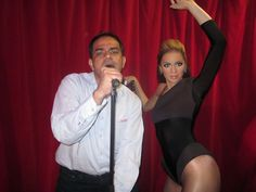 Crooning with Beyonce.