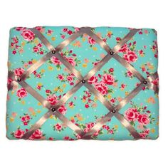 Handcrafted vintage style retro shabby chic padded memo board pinboard