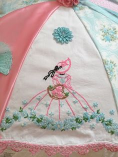 embroidered pillowcase parasol
