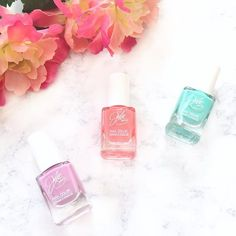 Julie G Nail Polish Spring Pack 1 swatches and review details on the blog this weekend! Featuring Tropical, Bikini, and Dream in Pretty!
