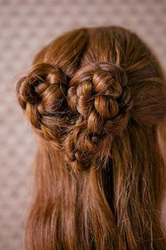 The Heart Braid Turtorial is Enchanting and Chic #musicfestival #hair trendhunter.com