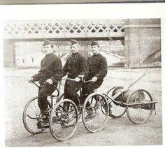 véhicule de pompiers du 19eme siècle avant l'utilisation des voitures…