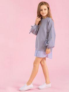 Girls Fashion Clothes, Tween Fashion, Teen Fashion Outfits, Casual Outfits, Fashion Dresses, Dresses Kids Girl, Kids Outfits Girls, Cute Girl Outfits, Sophia Dress