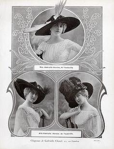 Chanel (Hats) 1911 Gabrielle Dorziat