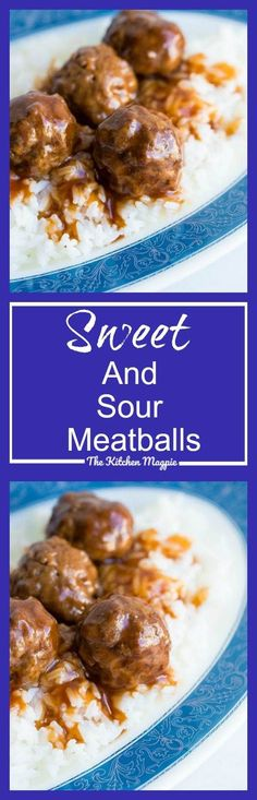 Sweet and Sour Meatballs Recipe - The Kitchen Magpie
