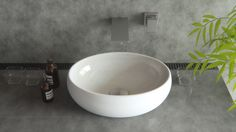 Slim OVAL counter top Basin Vanity Sink w/ pop up plug waste!