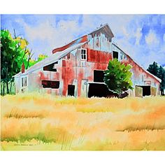 @Overstock - This watercolor salutes barns which are classic relics from the past. Rarely seen and almost never used, they remind us of days gone by. Beaten down by time, pride will not let this one fall, so even though he may be weak, he is still standing tall.http://www.overstock.com/Main-Street-Revolution/Ed-Wade-Jr.-Standing-Tall-Art-Print/5191958/product.html?CID=214117 $15.49