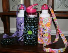 Keeping It Simple – Easy Water Bottle Sling with a Simple Square Bottom