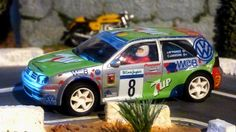 Ninco 50274. VW Golf Kit Car. Rally de Canarias 2002. José María Ponce-Carlos Larrodé. #slotcar Slot Car Racing, Slot Car Tracks, Slot Cars, Hot Wheels, Las Vegas, Healthy Lifestyle Changes, Health Promotion, Children Images, Dinners For Kids