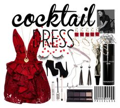 """""""cocktail dress"""" by pixiefashion ❤ liked on Polyvore featuring Eddie Borgo, Victoria Beckham, Marchesa, Topshop, Rimini, Bobbi Brown Cosmetics, Tiffany & Co., H&M and ASOS"""