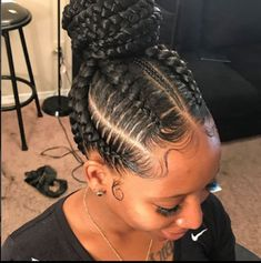 Wonderful Women Hairstyles Shaved Ideas 44 Gorgeous Braided Bun Hair Looks 2018 for Black Women. Looking for best black women hairstyles to show off in See here, we have collected amazing trends of braided bun hairstyles for black ladies so that Box Braids Hairstyles, African Hairstyles, Girl Hairstyles, Hairstyles 2016, Wedding Hairstyles, Protective Hairstyles, Medium Hairstyles, Black Bun Hairstyles, Spring Hairstyles