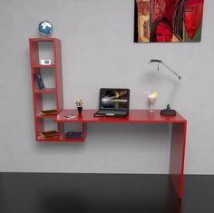 escritorio flotante - biblioteca - organizador - moderno