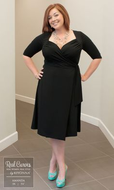 Real Curves for Sweetheart Knit Wrap Dress. Like this style but in maxi length