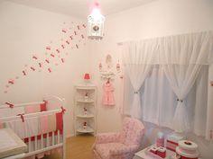 Decoração // Quarto para Bebê // Menina // Simples // Fofo // Rosa e Branco // Lindo // ♥