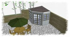 My Shed Plans - corner garden shed - Now You Can Build ANY Shed In A Weekend Even If You've Zero Woodworking Experience! Backyard Sheds, Outdoor Sheds, Outdoor Rooms, Outdoor Decor, Garden Sheds, Outdoor Office, Outdoor Living, Shed Building Plans, Diy Shed Plans