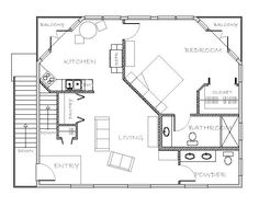 24 x 24 mother in law quarters plan with laundry room | Guest house ...