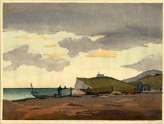 Modern Printmakers: 3 new woodcuts by Eric Slater Landscape Art, Landscape Paintings, Misty Day, Woodblock Print, British Museum, Printmaking, Seaside, Illustration Art, Illustrations
