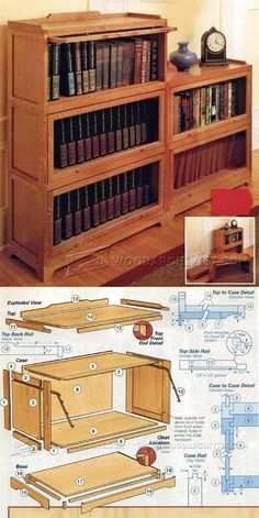 Barrister Bookcase Plans - Furniture Plans and Projects   WoodArchivist.com