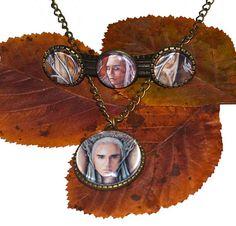 Hair barrette and pendant set  Elven King king of the elves