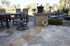 Travertine Outdoor patio