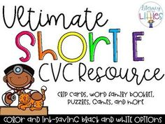 Ultimate Short E CVC-Ressource - Literacy with the Littles - Early Finishers Activities, Literacy Activities, Teaching Resources, Teaching Phonics, Literacy Centers, Short E Sound, Short E Words, Short Vowel Sounds, Small Group Reading