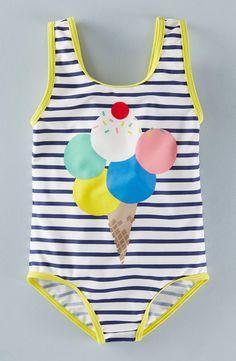 Print One-Piece Swimsuit (Toddler Girls, Little Girls & Big Girls)