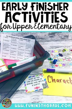 Check out this post for ideas and tips for giving your early finisher students meaningful choices when they finish their work early. Includes free book review activity and editable choice boards. via @funin5thgrade