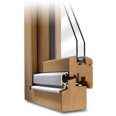 Balkontür CLASSIC 68 Profildecke mit Regenschiene im Farbton Kiefer