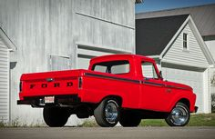 My 1st true love drove this truck .... Red & white w/a camper shell on the back. Classic Ford Pickup FEATURE: 1966 Ford F100