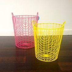 Bright Metal Basket Set