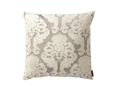 Versailles Square Pillow Silver / Ivory Velvet (24 x 24) L173SSI